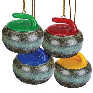Curling Rock Tree Ornament