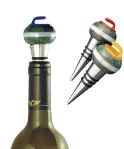 Curling Rock Wine Stopper
