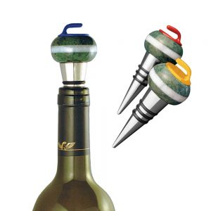 Curling Rock Wine Stopper