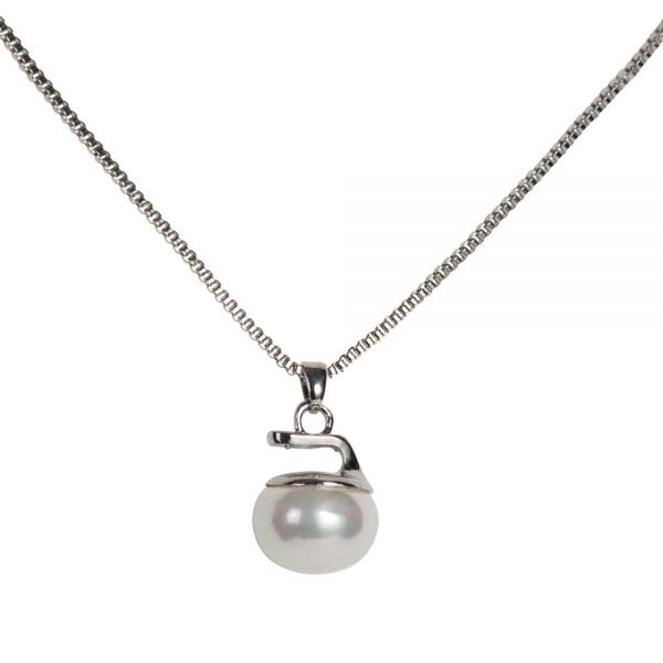 Pearl Curling Rock Necklace