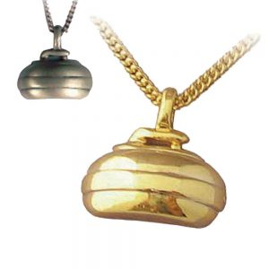 Curling Rock Necklace Gold | Pewter