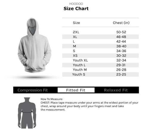 HooDoo Size Chart